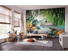 Komar Disney Fototapete JUNGGLE Book Swimming with Baloo | Größe: 368 x 254 cm (Breite x Höhe) | Tapete, Kinder, Wand, Kinderzimmer, Dekoration - 8-4106