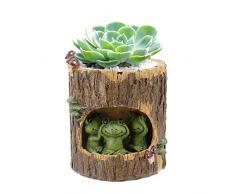 Segreto Creative Pflanzen Töpfen Pinsel Topf für Sukkulenten verziert Schreibtisch, Garten, Wohnzimmer mit Sweet Eichhörnchen, Igel, keramik, Grüner Frosch, Einheitsgröße