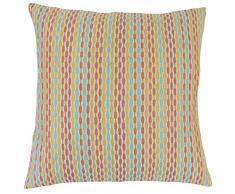 The Pillow Collection Caroun Stripe Bettwäsche-Set, Konfetti Konfetti Euro/26 x 26 Multi
