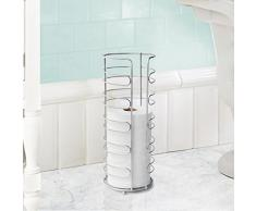 Inspired Living Toilettenpapierhalter, freistehend Toilet Paper Tower Harrow Silber