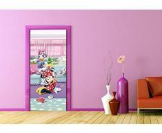 AG Design FTDv 1831 Minnie Mouse Daisy Disney, Papier Fototapete Kinderzimmer - 90x202 cm - 1 Teil, Papier, multicolor, 0,1 x 90 x 202 cm