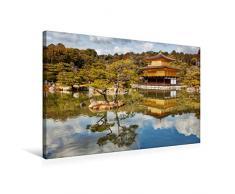 Premium Textil-Leinwand 75 cm x 50 cm quer Goldener Pavillon Kinkakuji