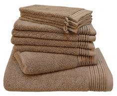 LASA Handtücher, 100% Baumwolle, Aquagrün, Dusche (70 x 140 cm), Waschbecken und Schminktisch