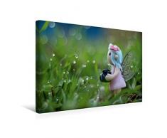 Premium Textil-Leinwand 45 x 30 cm Quer-Format Am Gartenteich | Wandbild, HD-Bild auf Keilrahmen, Fertigbild auf hochwertigem Vlies, Leinwanddruck von Judith Doberstein