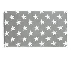 WENKO Wanneneinlage Stella - Antirutsch-Badewannenmatte mit Saugnäpfen, 40 x 70 cm, grau