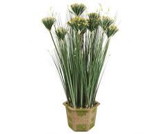 Breeze Point lebensecht Getopfte Kunstpflanze Zwiebelgras, gelb, 94 cm