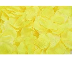 Lothringen Hochzeit Tisch Dekoration Seide Rosenblätter Blumen Konfetti gelb