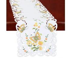 Simhomsen Spring Butterfly und Blumen Tisch Kommode, Läufer, Schal 14 by 108 inch Gelb