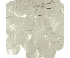 Wrapables 2,5 cm rund Gewebe Konfetti Party Dekorationen für Hochzeiten, Geburtstagsfeiern, und Duschen Metallic Silver Foil