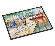 Caroline s Treasures Segelboote bei der Pavillon Innen- oder Outdoor Matte, Mehrfarbig, 18 x 27