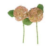 Anna Homey Decor Künstliche Blumen Hortensie mit Epipremnum Aureum grüne Blätter für Dekoration Hochzeit Bad Büro Couchtisch Pink-Green