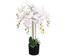 Leaf Kunstpflanze Orchidee, Blätter, 85 cm, Weiß
