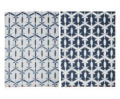Creative Tops Drift Tee Handtücher, blau, 2 Stück