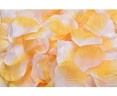 Lothringen Hochzeit Tisch Dekoration Seide Rosenblätter Blumen Konfetti Orange / Weiß