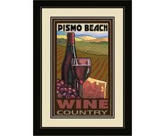 Northwest Art Mall pal-5339 mfgdm WC Pismo Beach California Wine Country. gerahmt Art Wand von Künstler Paul A. lanquist, 33 x 40,6 cm