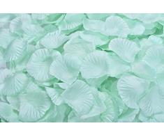 Lothringen Hochzeit Tisch Dekoration Seide Rosenblätter Blumen Konfetti Light Aquamarine