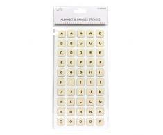Einfach Kreativ Spanplatten Fliesen Alphabet und Zahlen Aufkleber, Spanplatten, mehrfarbig