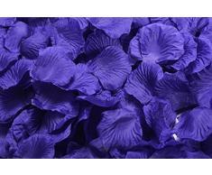 Lothringen Hochzeit Tisch Dekoration Seide Rosenblätter Blumen Konfetti Dunkles Schieferblau