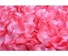 Lothringen Hochzeit Tisch Dekoration Seide Rosenblätter Blumen Konfetti fuchsia