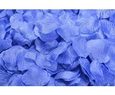 Lothringen Hochzeit Tisch Dekoration Seide Rosenblätter Blumen Konfetti himmelblau - deep sky blue