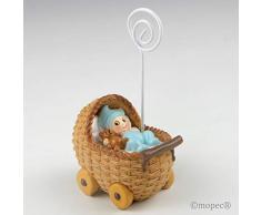 Mopec z781.3 Baby PORTAFOTO Kleines Blau in Kinderwagen, 6-er Pack