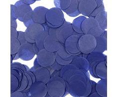 Wrapables 2,5 cm rund Gewebe Konfetti Party Dekorationen für Hochzeiten, Geburtstagsfeiern, und Duschen Midnight Blue