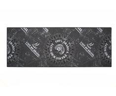 Pentone Creations RARBIGA95067180T01 Küchenlaufer Arabica Grau Küchenlaufer 67x180 cm - bedruckt mit Küchentheme Print - Strapazierfähig, Stoff, 180 x 67 x 0,5 cm