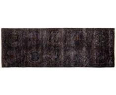 Solo Rugs Vibrance Läufer, handgeknüpft Vitalität 2 7 x 7 4 schwarz