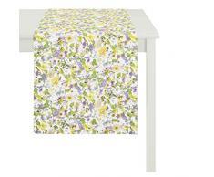 Apeltstoffe 2204 48x140 50 Läufer, Polyester-Baumwolle, weiß-pastellbunt, 48 x 140 cm