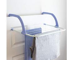 Home Basics Fre Wäscheständer, leichtgewichtig, strapazierfähig, zum Aufhängen im Innenbereich, lufttrocknen und Aufhängen, Handtücher, Mantel, Dessous, frisch gebügelte Kleidung, Strümpfe, Weiß