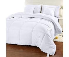 UTOPIA Betten Ultra Plüsch, hypoallergen, silikonisiertes Fiberfill, kammergestickte Alternative Tröster, Bettdecke Einsatz schützt vor Staub, Milben und Allergene (King 90-by-102 Zoll), weiß, King Size