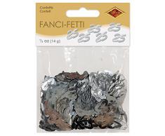 Beistle 50624-S Fanci-Fetti 25 Silhouettes Konfetti, silber