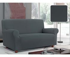 Italian Bed Linen Sofabezug Bielastisch Ausschnitt Stoff mit glatter Struktur, Polyester 130/170 x 90 cm grau