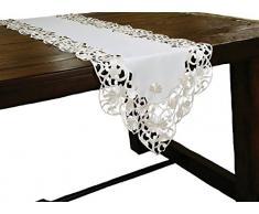 Xia Home Fashions Daisy Spitze Bestickt Durchbrucharbeit Spring Tisch Läufer, 15 Zoll von 137