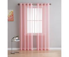 DecoSource Fenstervorhänge für Schlafzimmer, Wohnzimmer, Küche, Kinderzimmer, Outdoor, strapazierfähiges Polyester, 2 Stück 54 W x 95 L - Each Panel Rose