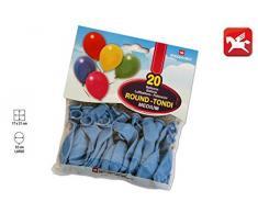 Pegaso Busta 20 Luftballons hellblau, M