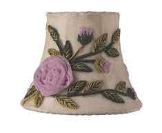Jubilee Collection 2096 Rose Net Blume Kronleuchter Schatten, elfenbeinfarben