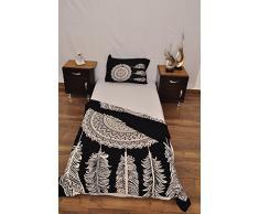 indischen schwarz weiß Urban Dreamcatcher Feder Outfitters Wandteppich Mandala Überwurf Tagesdecke Gypsy Boho Single Twin Doona Bettdeckenbezug und 1 Kissenbezug Set 100% Baumwolle 203,2 x 137,2 cm.