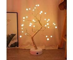 KHTO USB Perlendekorativer LED-Schimmernder Baum, Schreibtischlampe mit Touch-Schalter, LED-Licht für Zuhause, Schlafzimmer, Innenbereich, Hochzeit, Party-Dekoration 36 LED Pearl lamp