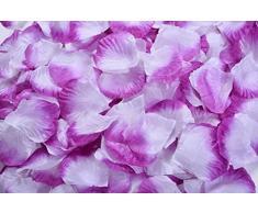 Lothringen Hochzeit Tisch Dekoration Seide Rosenblätter Blumen Konfetti Violett / Weiß