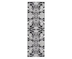 Vallila CM000971-09 Atlantis Viskose Läufer, Chenille, schwarz, 68 x 220 cm