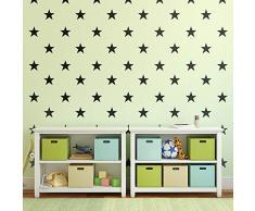 Imprinted Designs Set von 20 Vinyl-Wand-Aufklebern - Sterne - je 12,7 x 12,7 cm - niedliche selbstklebende Aufkleber Formen für Kinder, Kleinkinder, Teenagerzimmer, Spielzimmer, Kinderzimmer, Wohnzimmer, Wohnzimmer, Wohnzimmer,
