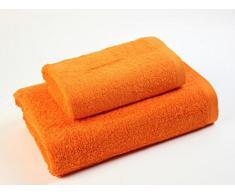 Das Dragon Blanco Pack Waschbecken mit Badetuch, 100% Baumwolle, Orange 50 x 100; 100 x 150 cm
