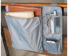 Amelitory Nachttisch mit 3 Taschen Small hellgrau