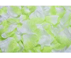 Lothringen Hochzeit Tisch Dekoration Seide Rosenblätter Blumen Konfetti Light Green and White