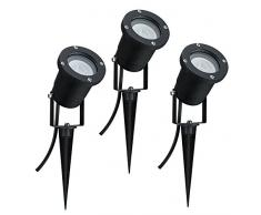 Paulmann 988.97 Special Line Garden 3er-Set Spotlight IP65 GU10 Warmweiß 3x3,5W 98897 LED Aussenbeleuchtung Erdspieß Gartenbeleuchtung Gartenleuchten Outdoor [Energieklasse A+]