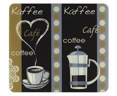 WENKO 2712989500 Multi-Platte Kaffeeduft, für Glaskeramik Kochfelder, Schneidbrett, Gehärtetes Glas, 56 x 0.5 x 50 cm, Mehrfarbig