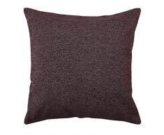 Deconovo Couch Kissenbezüge Kissenhülle Überwurf Kissenbezug für Bank 45,7 x 45,7 cm braun