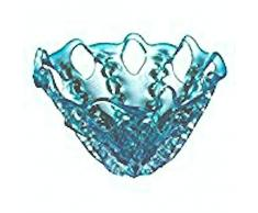 OK Lighting 20,3 cm rnum-inch Aqua Blau Glas Deko Schale Obstschale