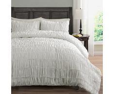 Gerüscht Bettwäsche 2 tlg. Tröster Set, PINCH Falte Bezug für Hundebett, | Farbe: beige | Größe: Twin von gemütlichen Bettwäsche